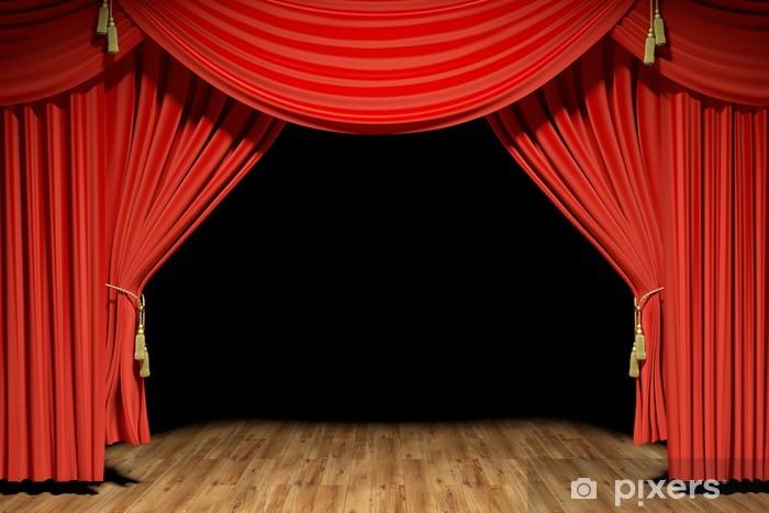 Carta da parati red palco del teatro velluto tende for Carta da parati in velluto