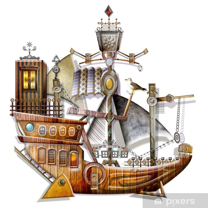 Naklejka Pixerstick Stary statek - Inne uczucia