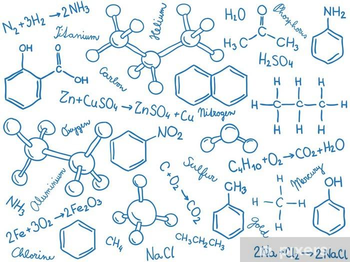 Carta Da Parati Modelli.Carta Da Parati In Vinile Modelli Molecola E Formule Chimica Sfondo