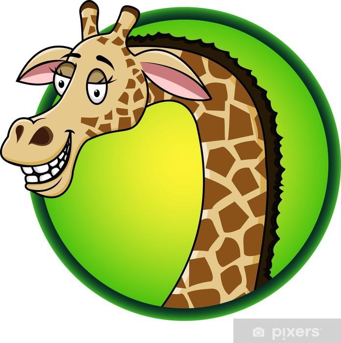 Vinylová fototapeta Žirafa karikatura - Vinylová fototapeta
