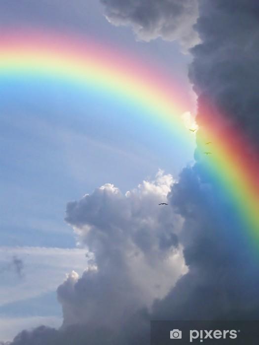 Vinyl Fotobehang Regenboogwolken - Regenbogen