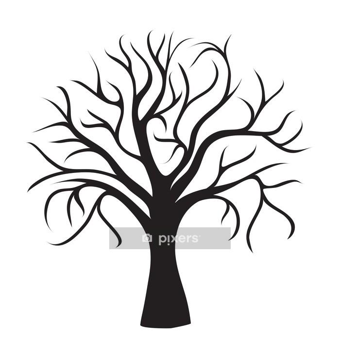 Vinilo para Pared Árbol negro sin hojas - Vinilo para pared