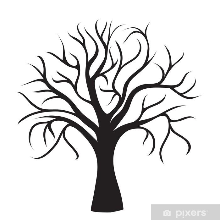 aufkleber schwarzbaum ohne blätter • pixers®  wir leben