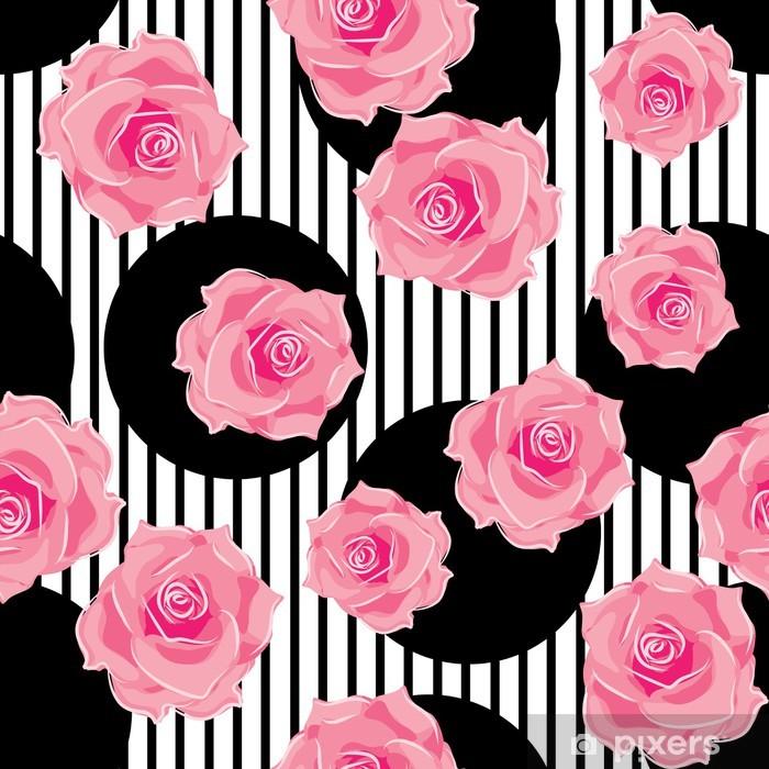Vinylová fototapeta Bezešvé vzor růží - Vinylová fototapeta