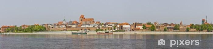 Vinylová fototapeta Toruň, Vistula, město panorama - Vinylová fototapeta