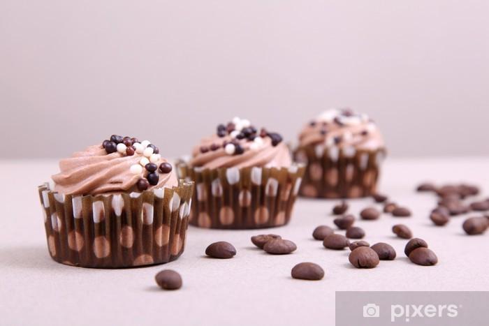 Naklejka Pixerstick Babeczki czekoladowe - Posiłki