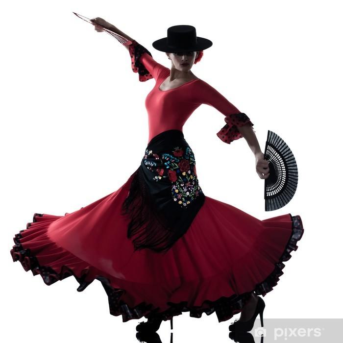 Fototapet av Vinyl Gipsy flamencodansare kvinna dans - Teman