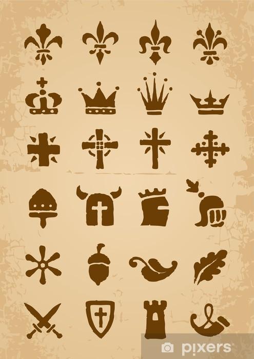 Heraldic Symbols Wall Mural Vinyl