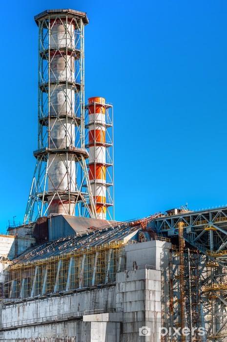 Papier peint vinyle La centrale nucléaire de Tchernobyl 2,012 - Bâtiments commerciaux et industriels