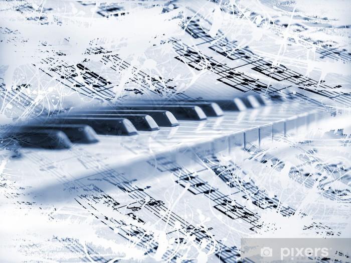 Naklejka Pixerstick Klawisze fortepianu z nut - Hobby i rozrywka