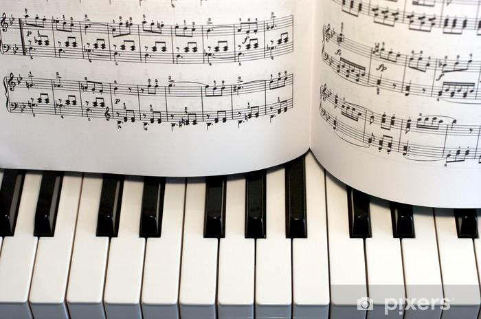 Naklejka Pixerstick Piano, Klawiatura, wynik - Muzyka