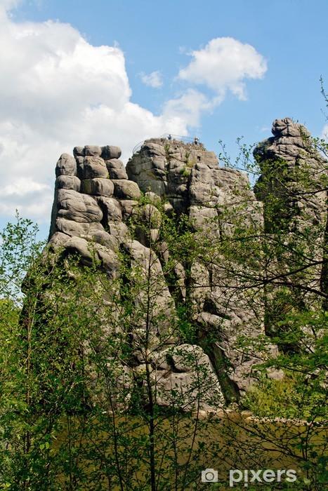 Vinyl-Fototapete Externsteine im Teutoburger Wald - Urlaub