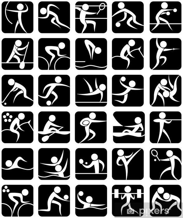 Vindu- og glassklistremerke Sommersportsymboler - Lagidrett