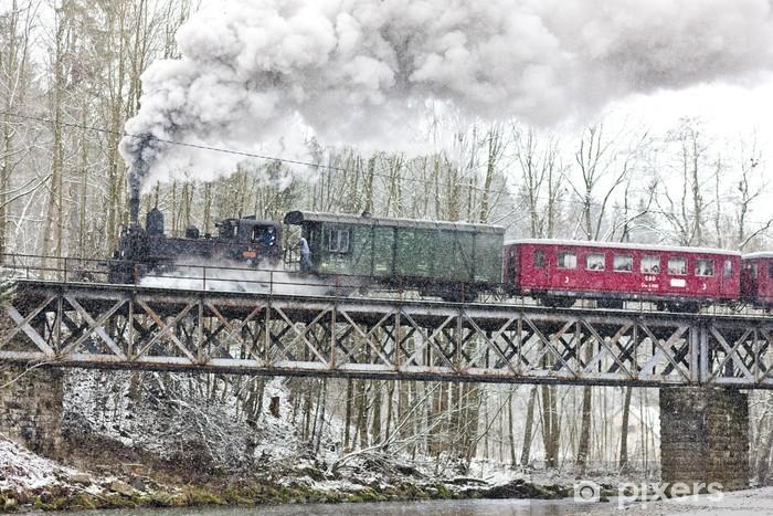 Papier peint vinyle Train à vapeur près Hradsko, République tchèque - Thèmes