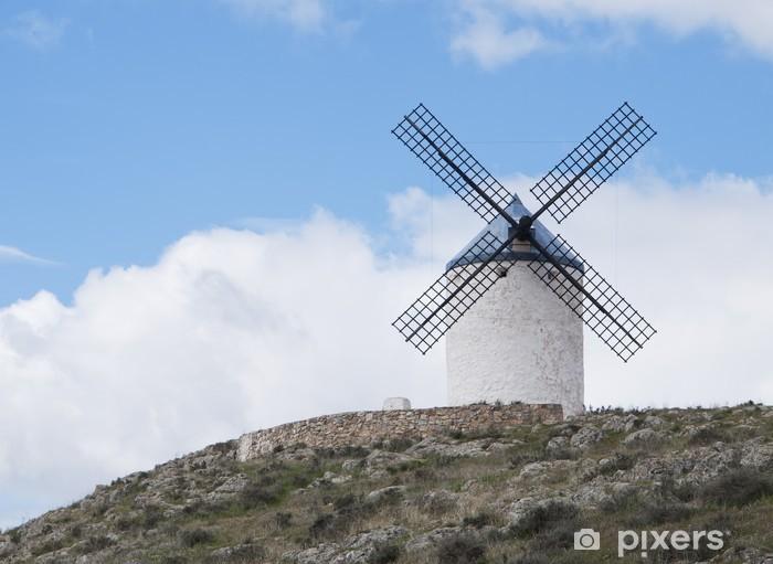 Naklejka Pixerstick Wiatraki w Consuegra, Toledo, Hiszpania. - Zabytki