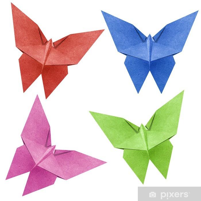 Papier peint Origami papillon Papercraft de recyclage • Pixers ...