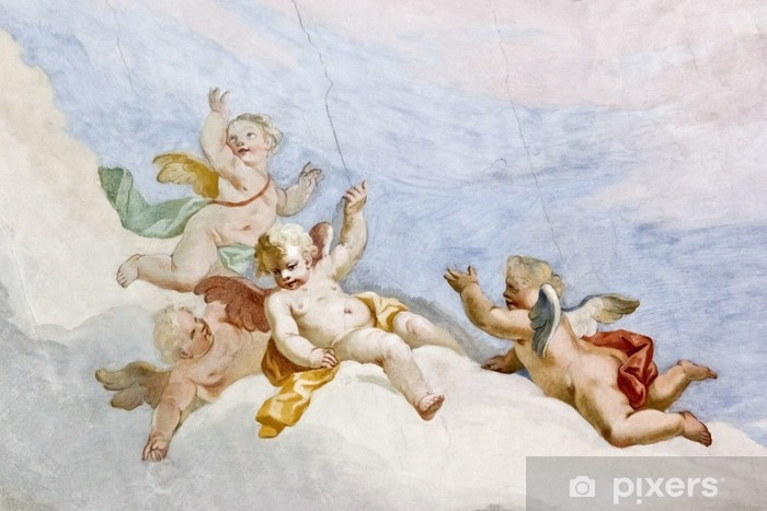 Pixerstick-klistremerke Fresco Wieskirche -