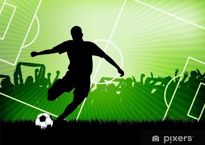 Fototapeta samoprzylepna Piłka nożna w tle -