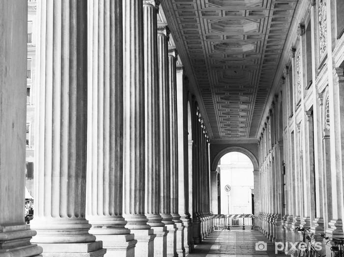 Vinyl Fotobehang Pijlers van Rome in zwart-wit, Italië - Thema's