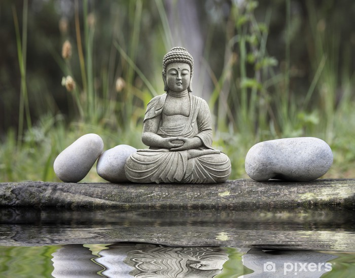 Papier peint vinyle Statue bouddha - Styles