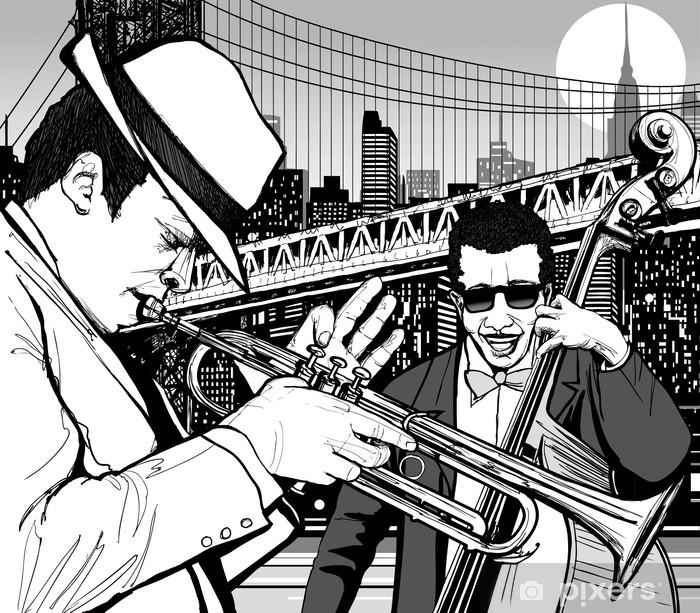 Vinyl Fotobehang Jazz in New York - jazz