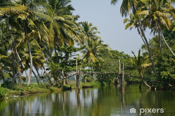 Naklejka Pixerstick Rozlewiska w Alleppey, Kerala - Azja