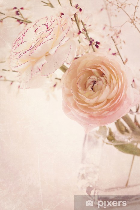 Papier peint vinyle Fleurs Ranunculus - Thèmes