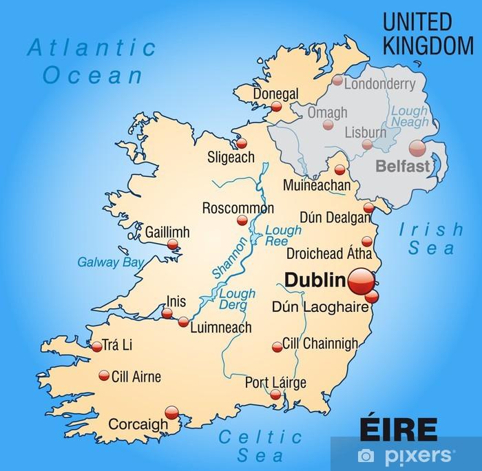 Mapa Irlandii Irlandia Mapa Polityczna Geograficzna