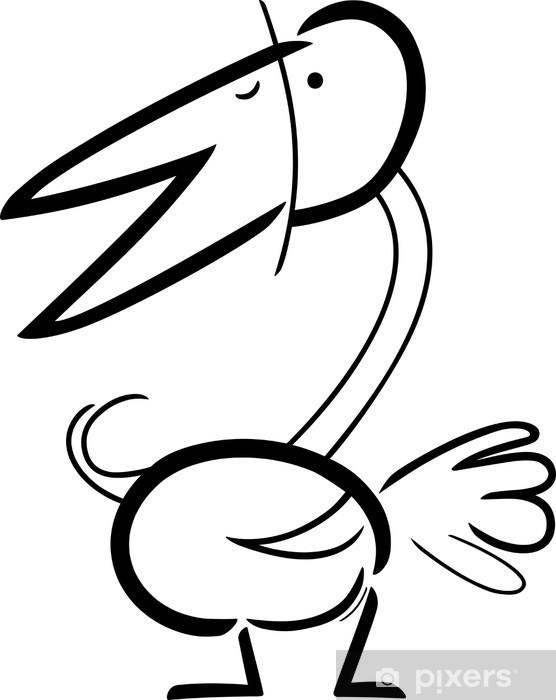 Boyama Kus Karikatur Doodle Cikartmasi Pixerstick Pixers