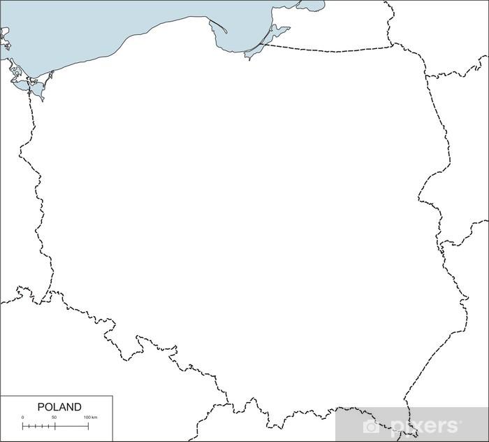Naklejka Kontur Mapy Polski Pixers żyjemy By Zmieniać