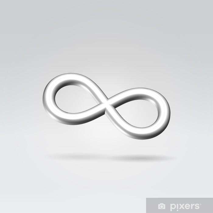 f228f7e2 Pixerstick-klistremerke Sølv Infinity Symbol • Pixers® - Vi lever ...