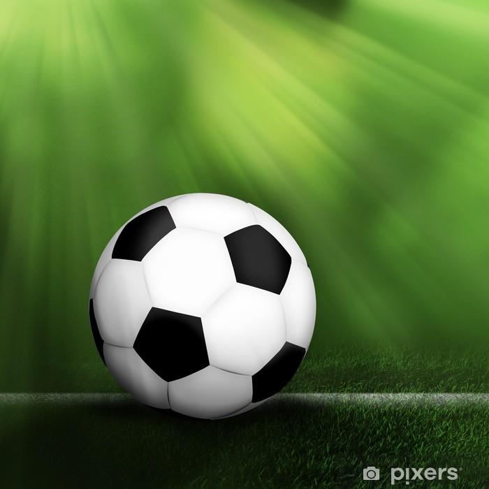 Vinilo Pixerstick El balón de fútbol de fondo - Fondos