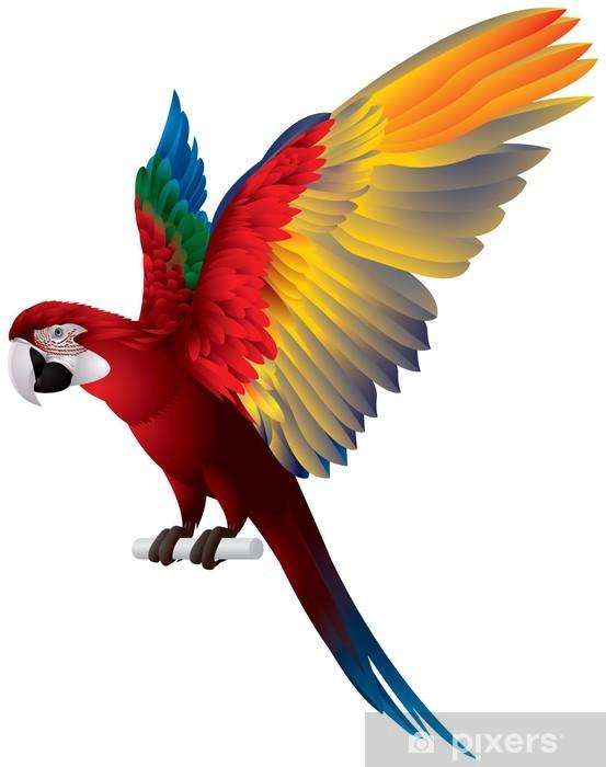 Vinilo Pixerstick Wings Spread loro - Animales