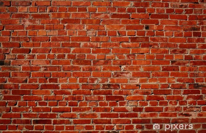 Naklejka Pixerstick Czerwony mur z cegły -