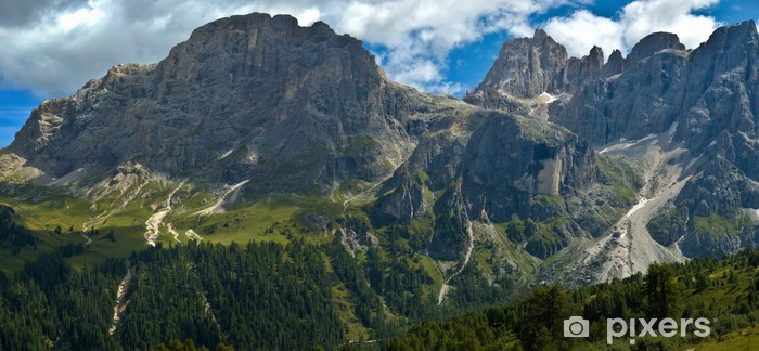 Sticker Pixerstick Mont Mulaz et le haut de la Focobon, Dolomites - Europe