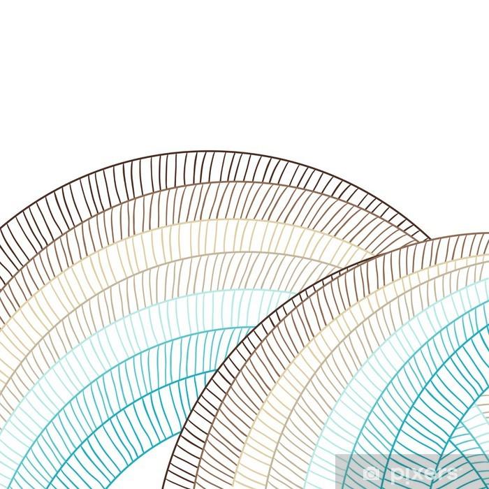 Papier peint vinyle Fond abstrait de cercle. élément de vecteur pour la conception. - Styles