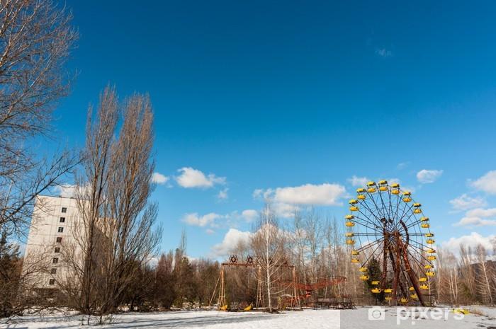 Papier peint vinyle La Grande Roue à Pripiat, Tchernobyl 2012 Mars - Ecologie