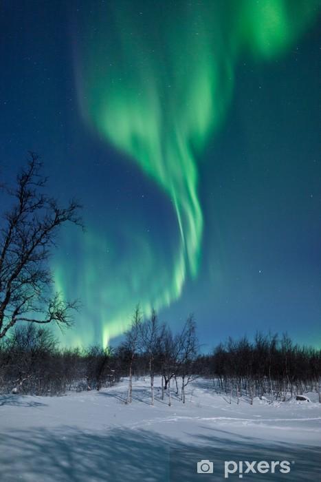Vinilo Pixerstick Aurora Borealis en Suecia - Temas