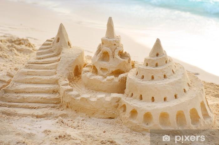 Nálepka Pixerstick Hrad Písek na pláži - Prázdniny