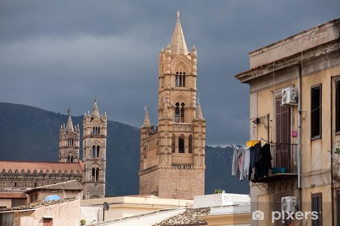 Carta Da Parati A Palermo.Carta Da Parati In Vinile Veduta Di Palermo