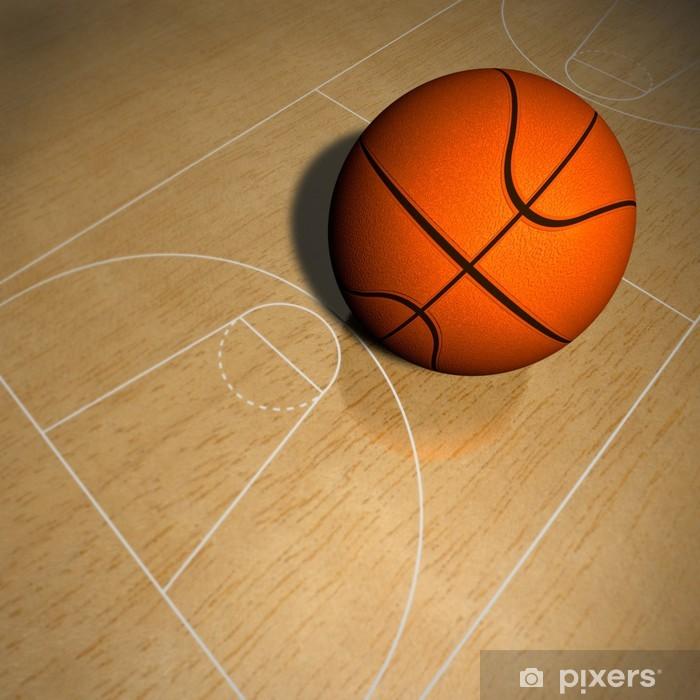 Nálepka Pixerstick Basketbal v Basketballfeld - Týmové sporty