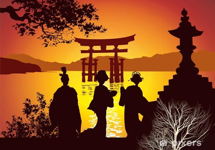 Papier peint vinyle Sites postale du Japon - Asie