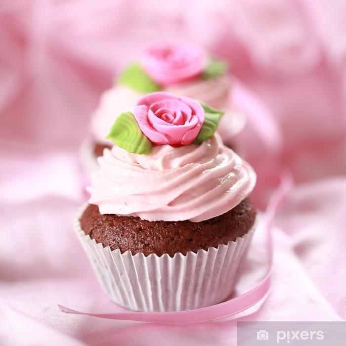Naklejka Pixerstick Babeczki dla miłości - Słodycze i muffinki