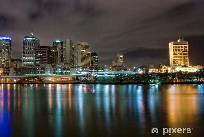 Vinyl-Fototapete Brisbane City At Night - Queensland - Australien - Themen