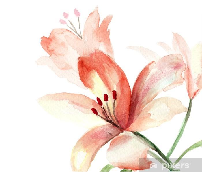 Papier peint vinyle Belles fleurs de lys - Fleurs