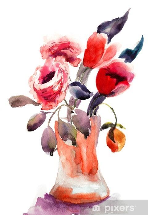 Carta Da Parati In Vinile Bouquet Di Fiori Bellissimi