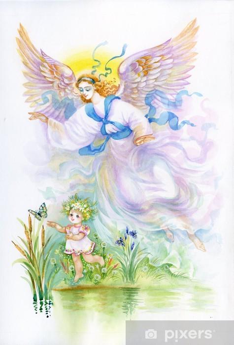 """Papier peint vinyle Aquarelle """"Angel"""" - Thèmes"""