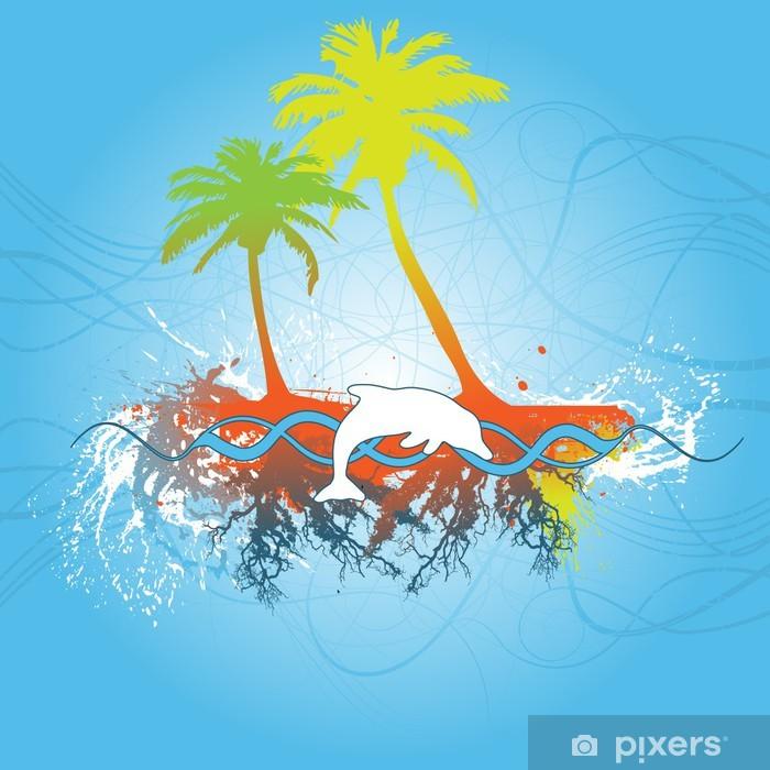 Plakát Tropické scéna - Pozadí