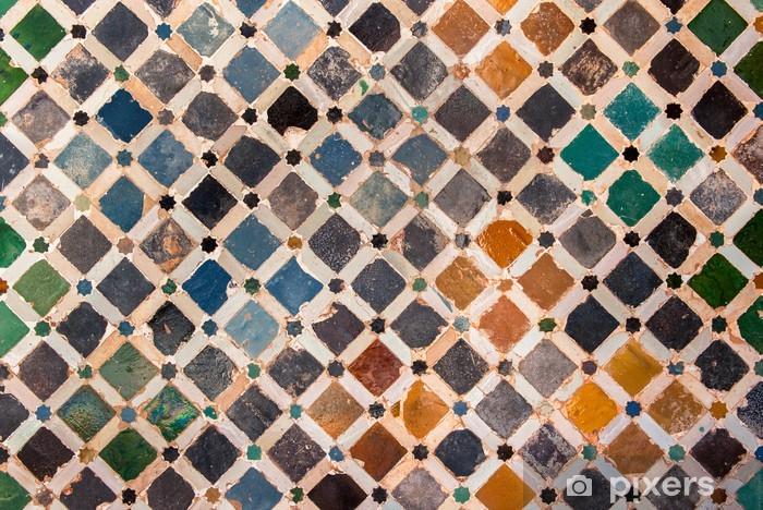 Sticker Pixerstick Décoration du carrelage, palais de l'Alhambra, Espagne - Arrière plans