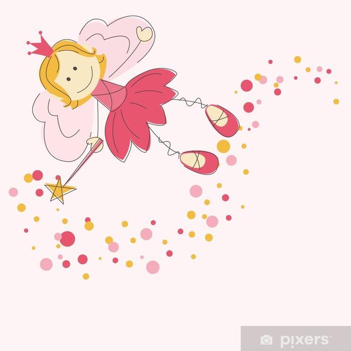 Adesivo Pixerstick Illustrazione vettoriale di una fata con la bacchetta magica - Bambini
